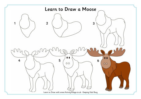 Moose drawing for kids at getdrawings free for personal use 460x325 learn to draw animals thecheapjerseys Image collections