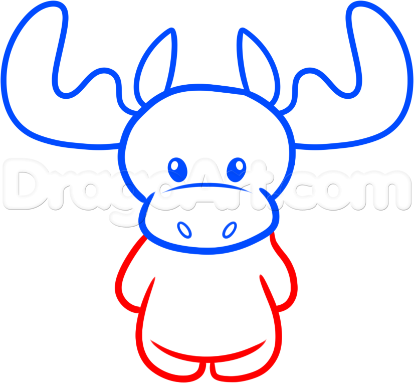 Moose drawing for kids at getdrawings free for personal use 826x768 how to draw a christmas moose step 4 drawing pinterest moose thecheapjerseys Gallery