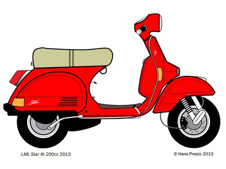 733x549 Lml Star 200cc Vespa Px Adobe Illustrator Drawing Drawing