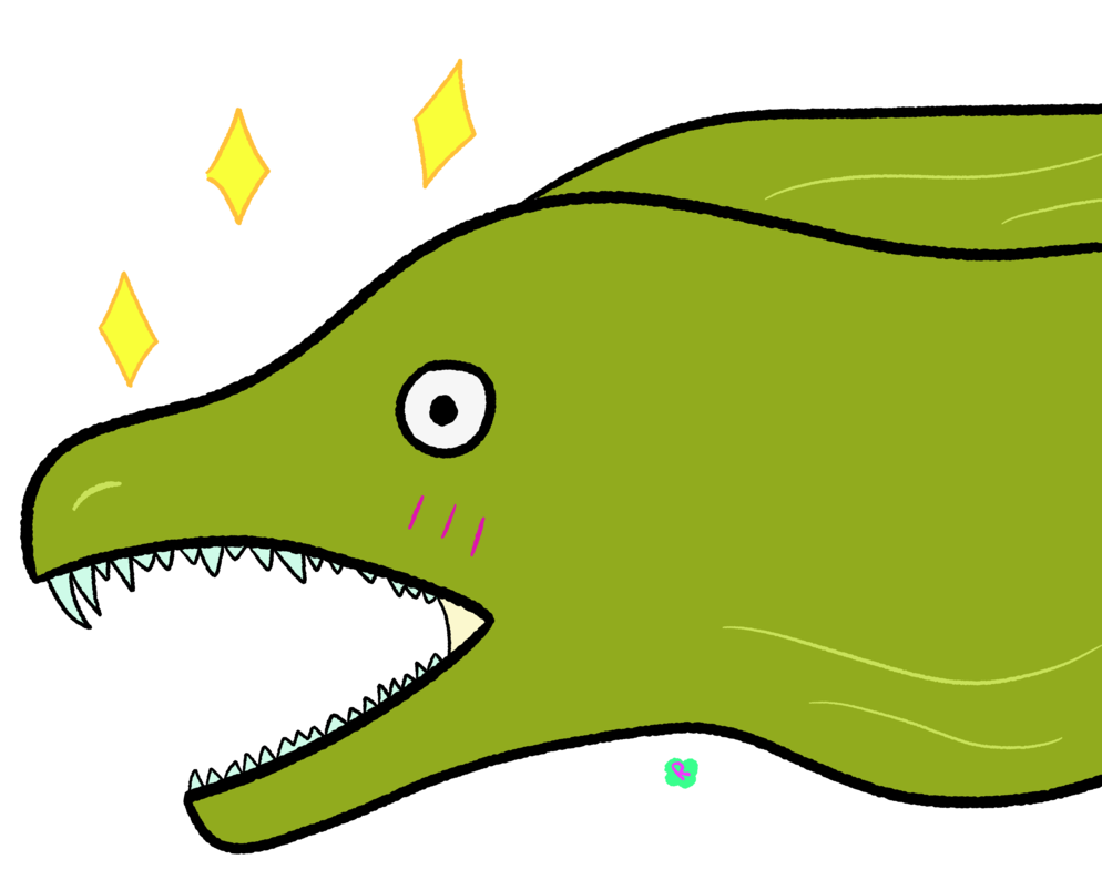 Moray Eel Drawing at GetDrawings.com | Free for personal use Moray ...