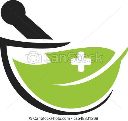 450x424 Pharmacy Medical Logo Design. Natural Mortar And Pestle Logo