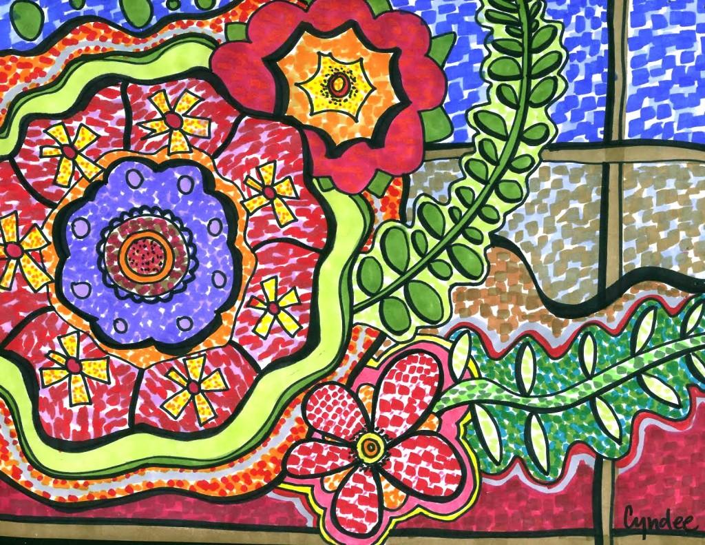 1024x791 Mosaic Painting Drawingillustration Mosaic Art
