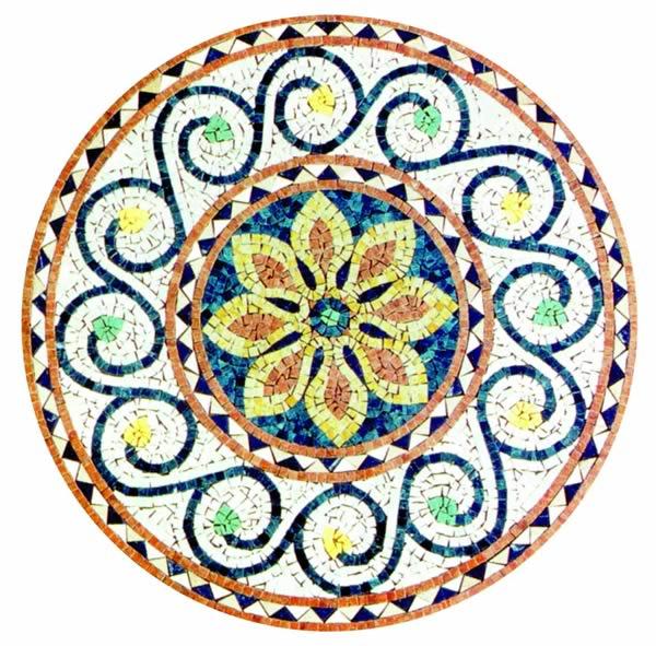 600x591 Mosaic Patterns 24 To 40 D I N I N G T A B L E S Mosaic Art