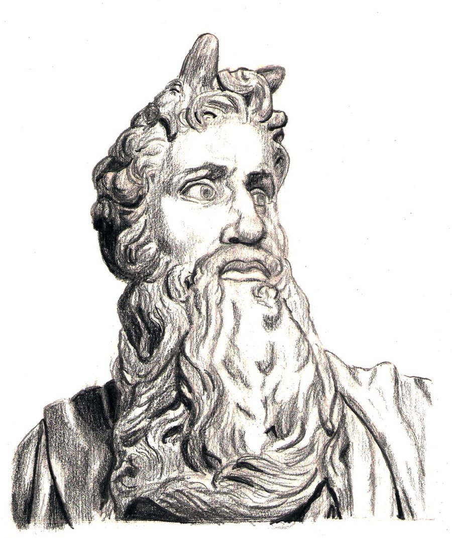 900x1073 Michelangelo's Moses By Paul281f