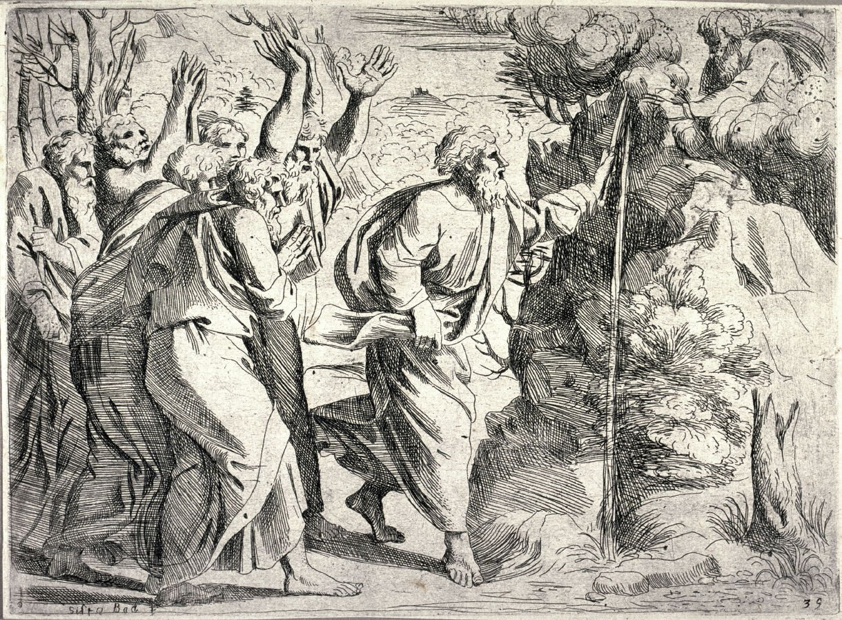 1220x898 Moses Drawing Water From The Rock, From The Series Of Etchings