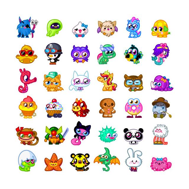 640x640 Moshi Monsters Paper, Hand