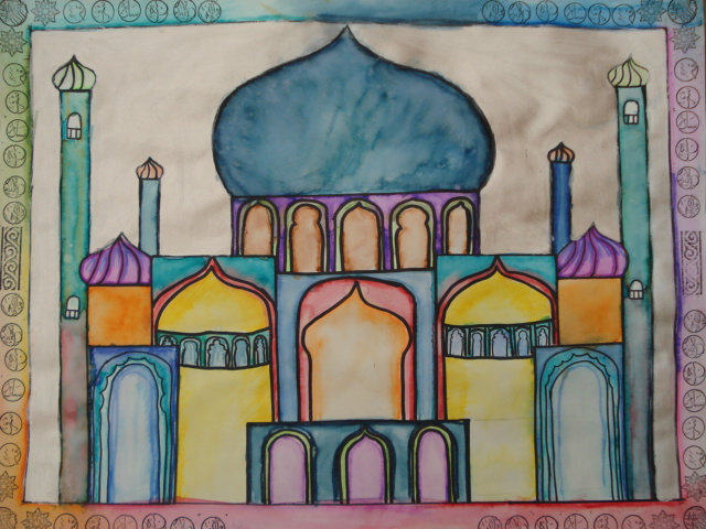 640x480 A Faithful Attempt Watercolour Mosque Paintings