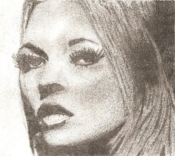 591x526 Kate Moss Drawing By Beckykekky
