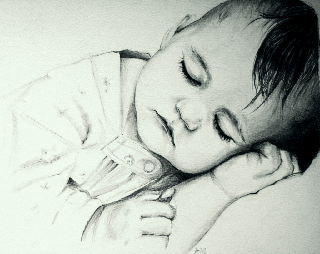1024x812 Mother Baby Pencil Drawing Pencil Drawing With Baby And Mother