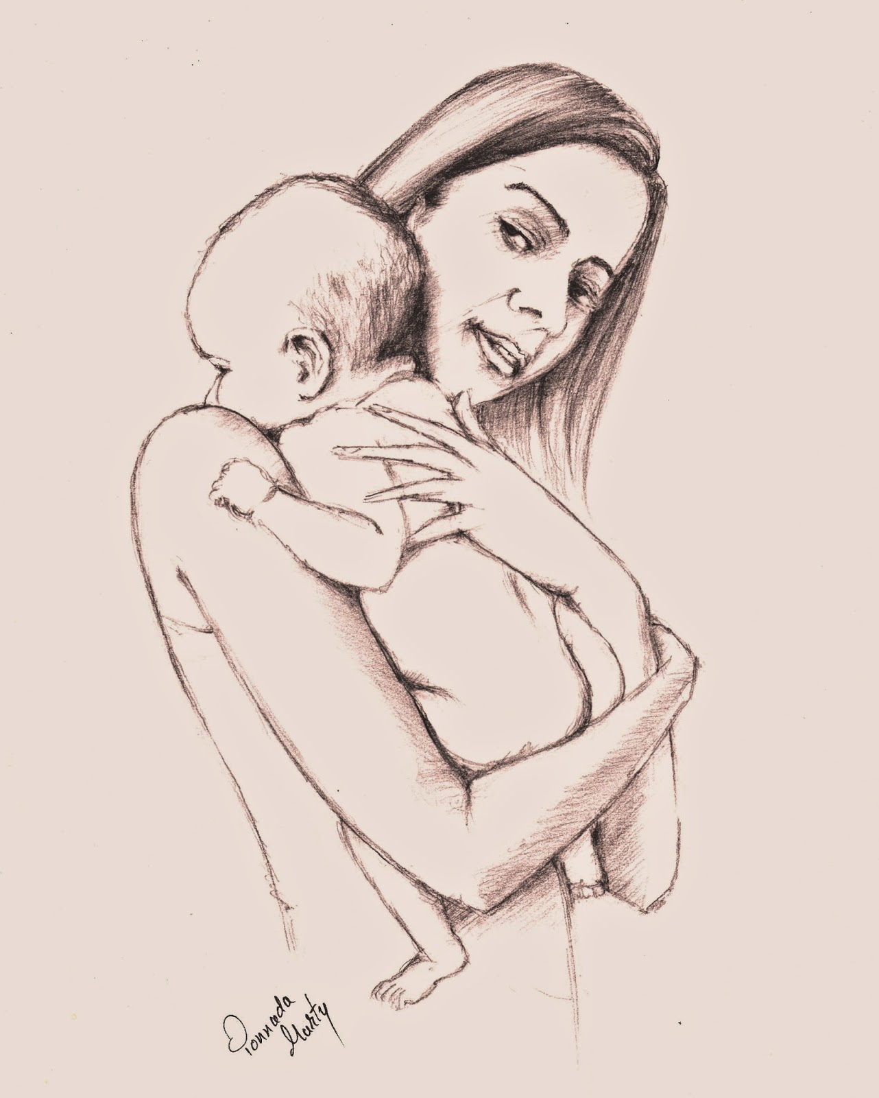 1282x1600 Sketches And Drawings Mother And Baby