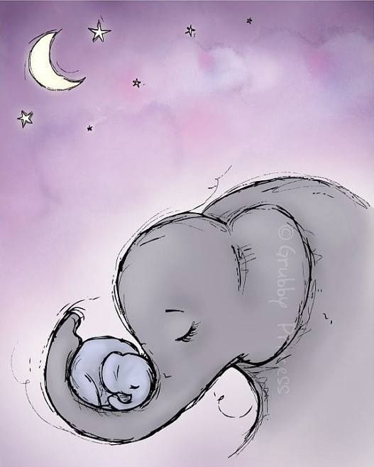 527x658 Sweet, Loving Mother And Moon Mother's Day Moon