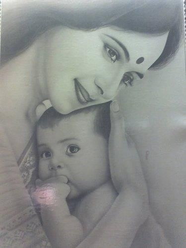 375x500 Indian Pencil Drawing 3d Images