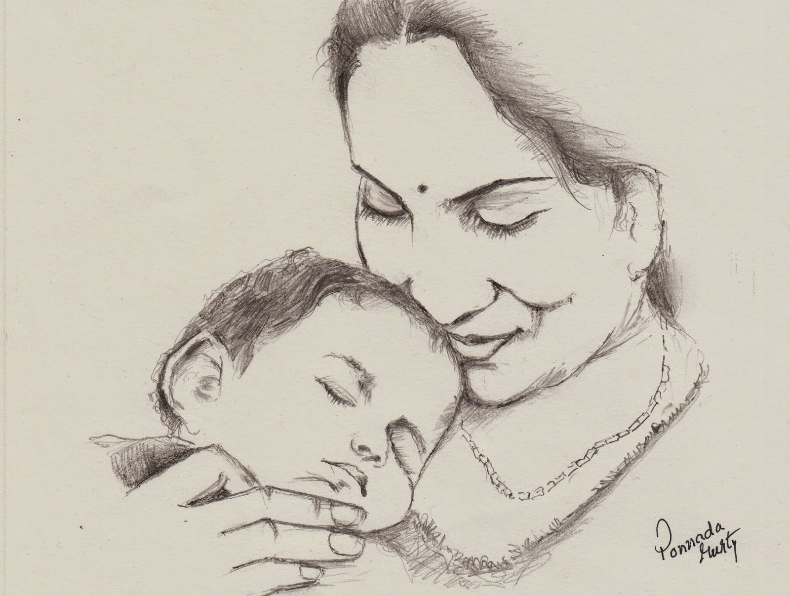1600x1207 Mother Pencil Sketches Indian Mother And Child Pencil Drawing