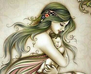 374x302 Mother And Child's Love Draw Through The Awsome Painting
