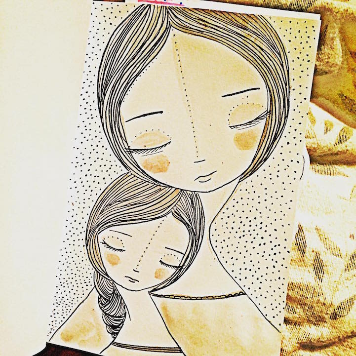 721x721 Artist Celebrates Joys Of Motherhood With Illustrations Of Mothers