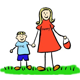 325x325 Mother And Son Art Drawing Blond Picture Mother And Son Hold
