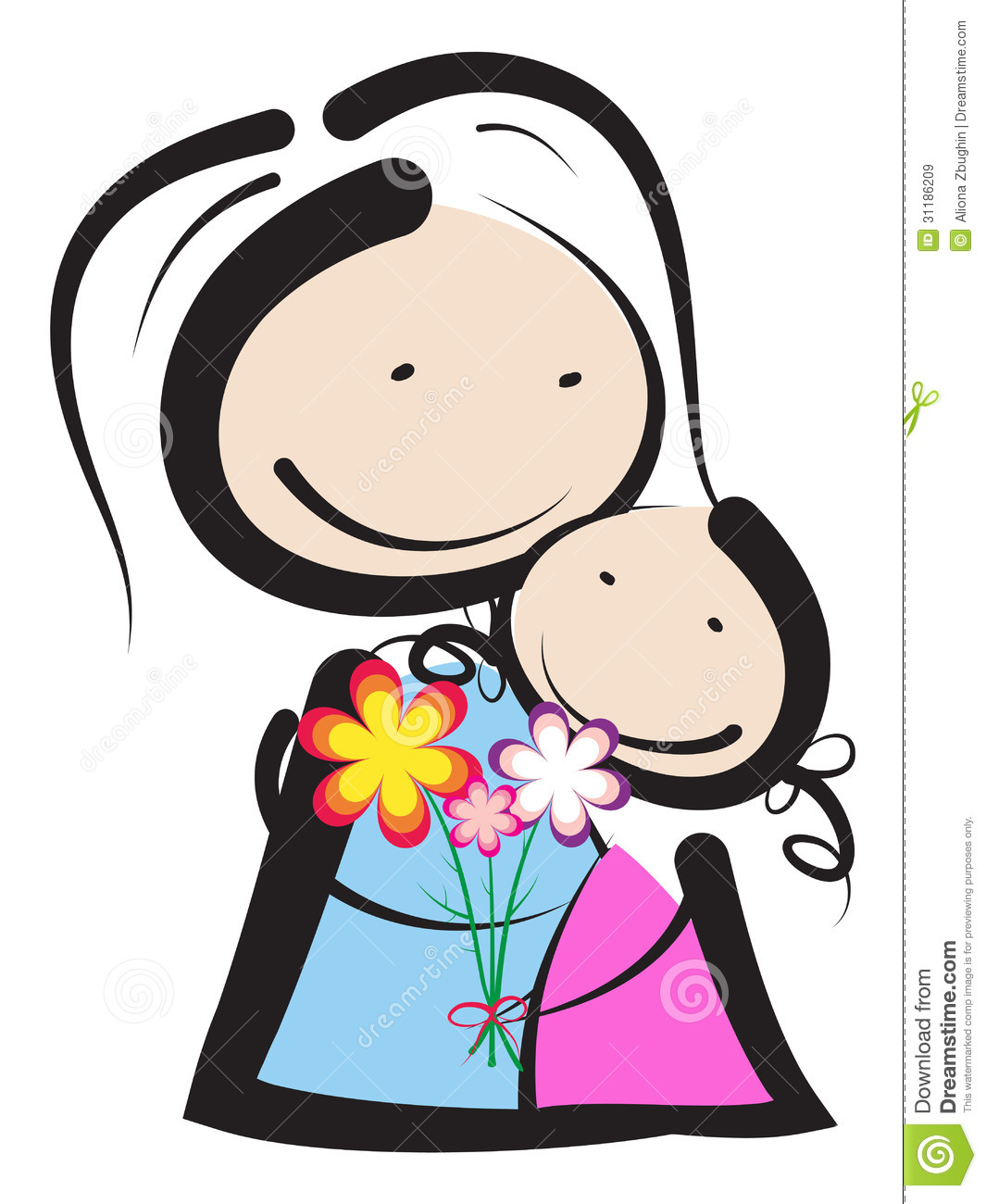 1065x1300 Mother And Daughter Cartoon Drawing Day Clipart For Daughter
