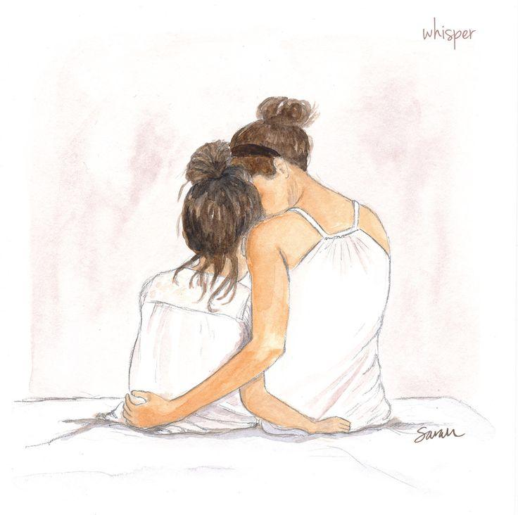 736x732 Gallery Easy Mother Daughter Drawings,