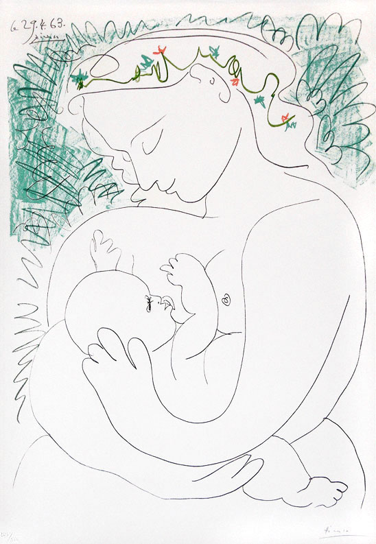 548x793 Pablo Picasso, Mother And Child, 1963, Lithograph