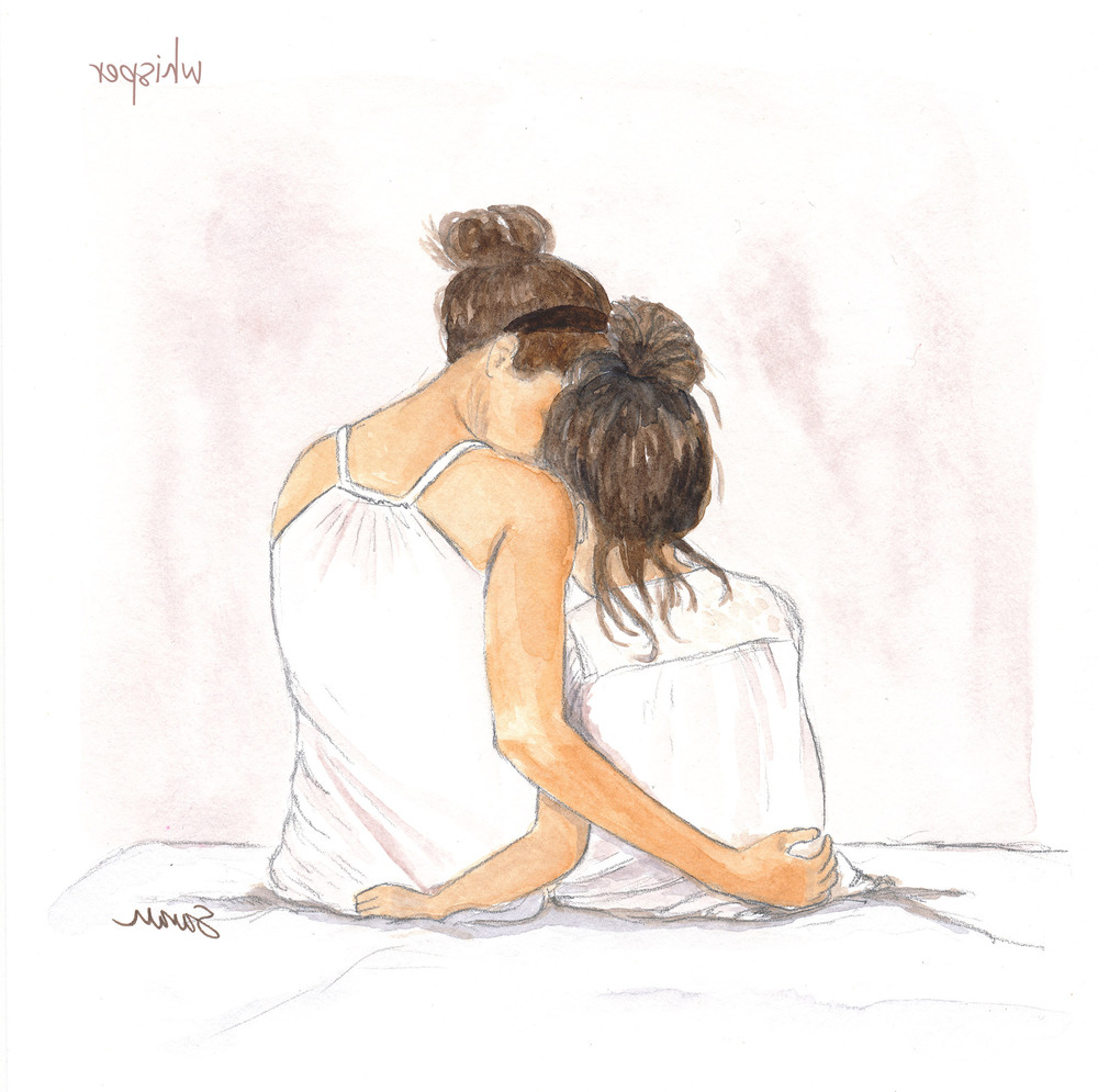 1000x995 Sketch Of A Girl With Daughter Mother Daughter By Drawingsarah