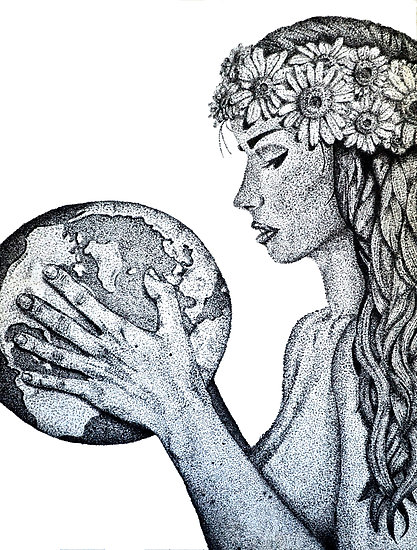 mother earth drawing at getdrawingscom free for