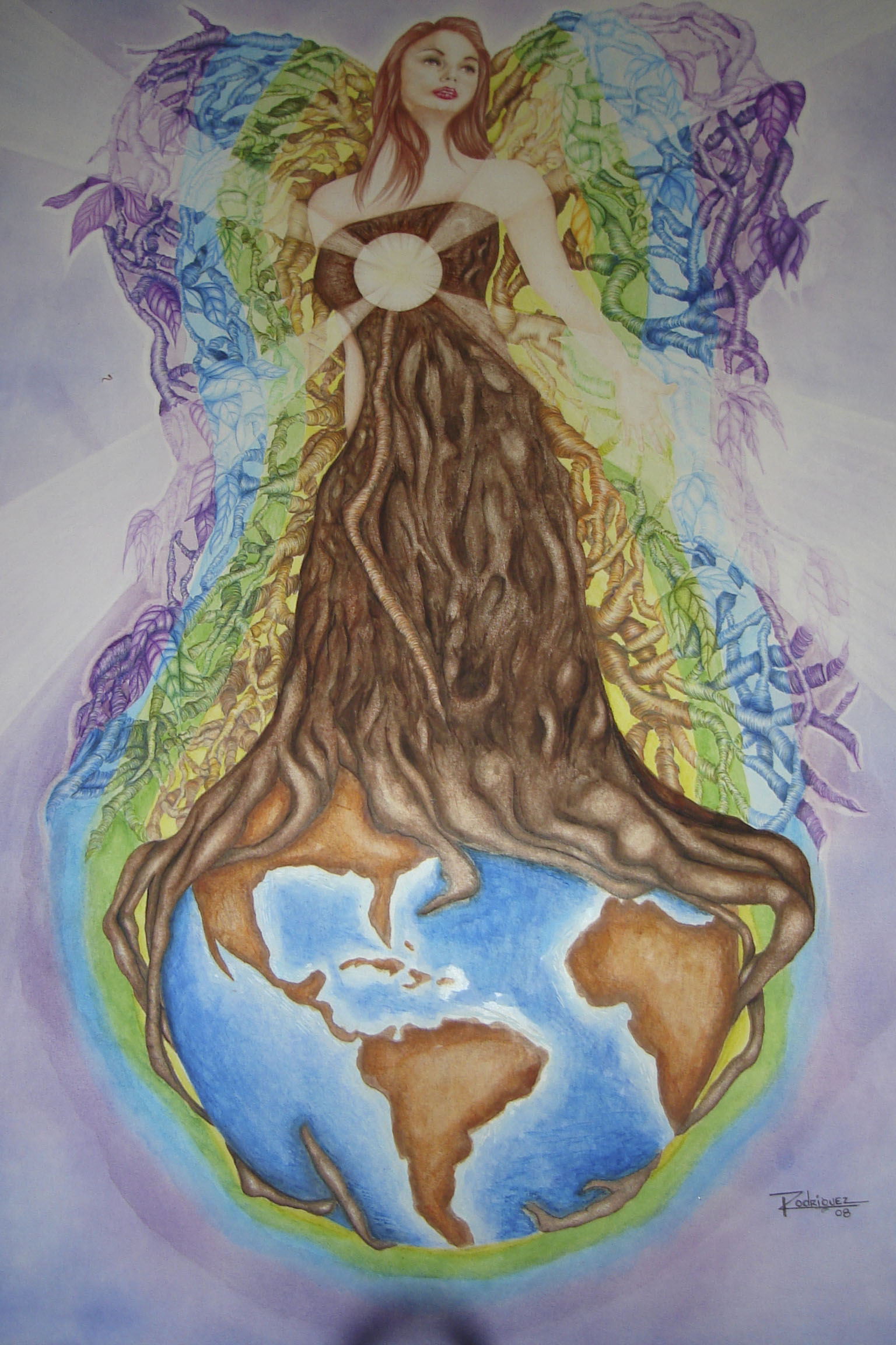 1536x2304 Mother Nature Earth Drawing Mural Mother Earth