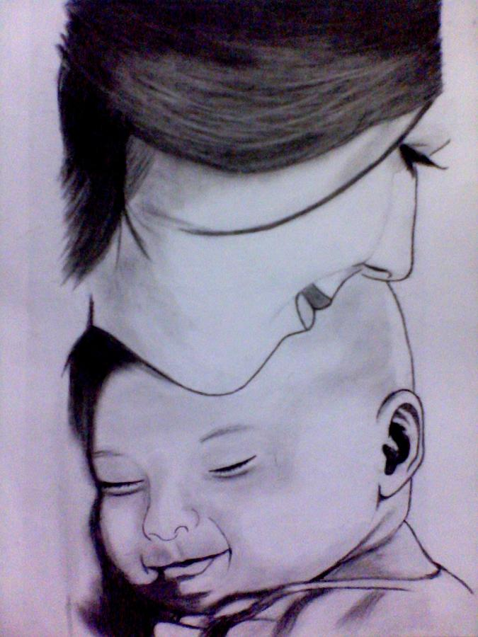 675x900 mother39s love drawing by mukul dhankhar