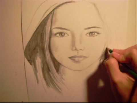 480x360 Drawing A Young Virgin Mary