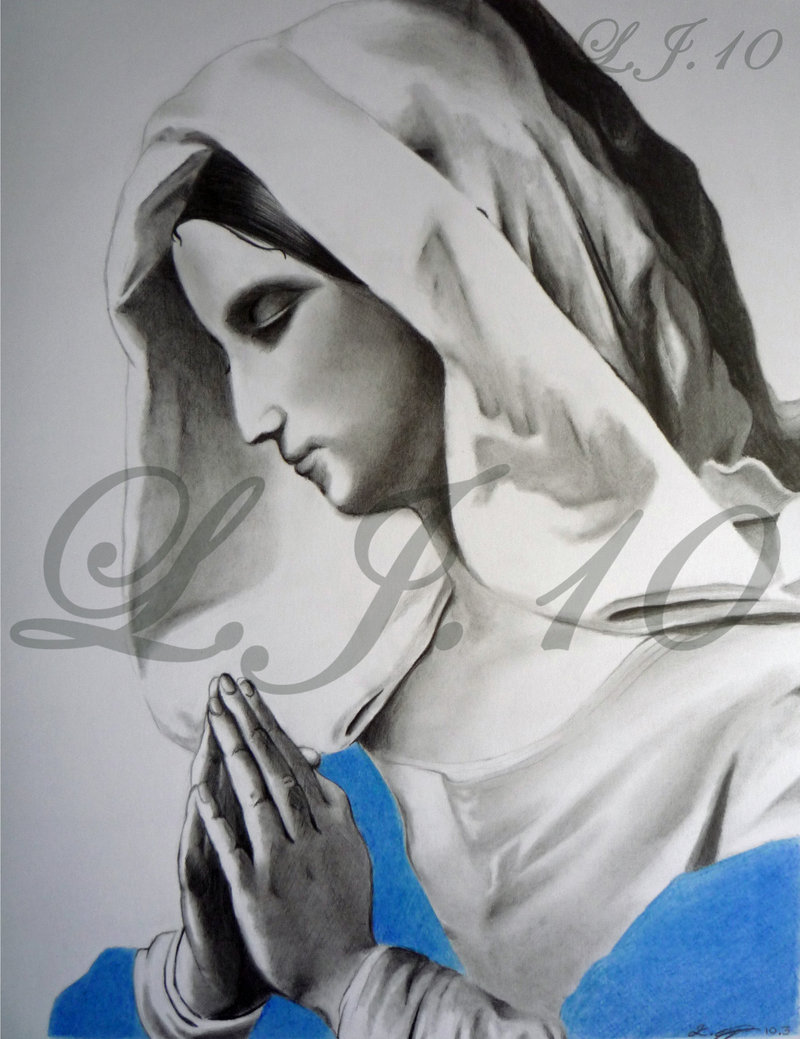 800x1039 Mary Mother Of Jesus Praying By Lee100188