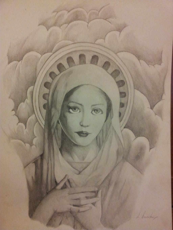 1024x1365 Virgin Mary By Kaz Zan