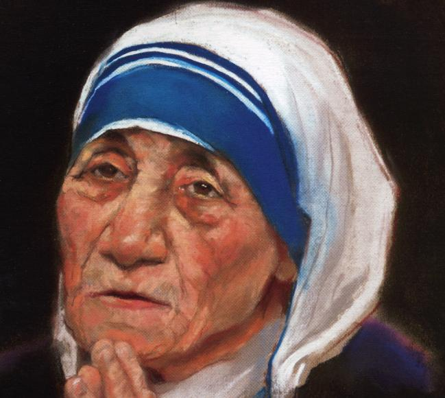 649x580 Mother Teresa Missionnaries Of Charity Drawing By Mark Sanislo
