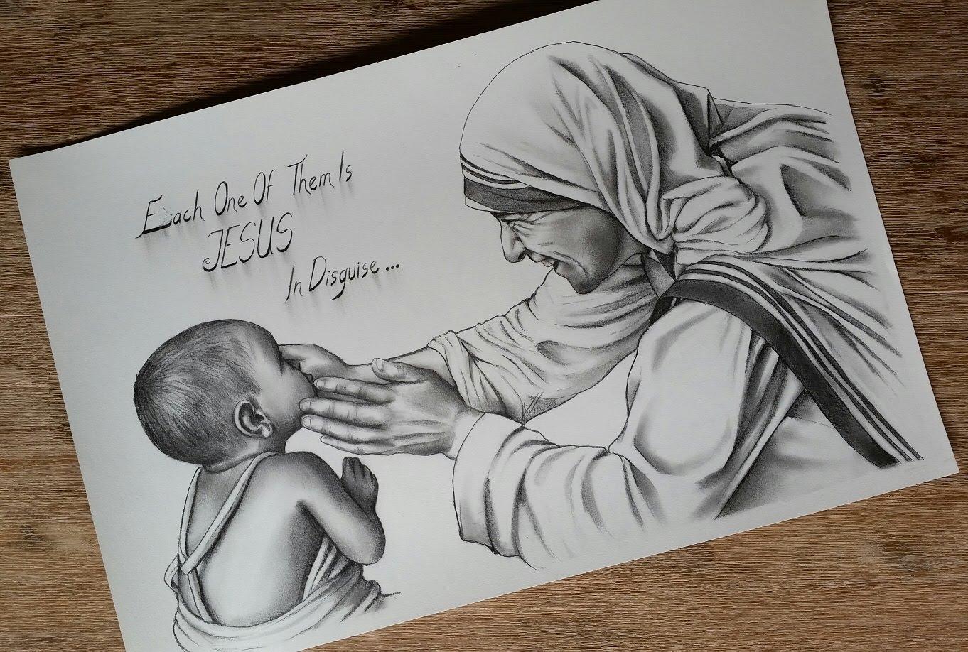 1362x918 Pencil Sketch Mother Teresa Sketching Mother Teresa, Mother
