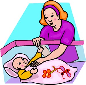 300x298 Mother And Baby Drawing Clipart Panda