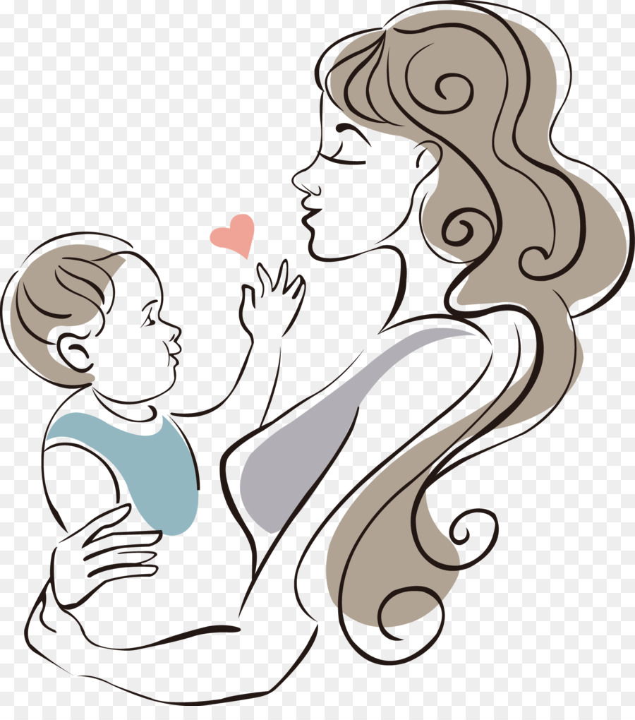 900x1020 Mother Drawing Infant Child