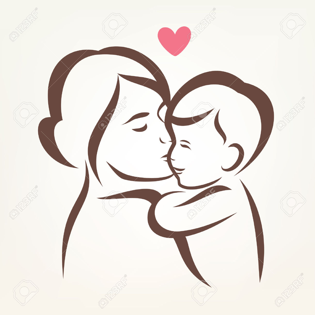 1300x1300 Mother Hugging Child Skech Mother And Baby Drawing