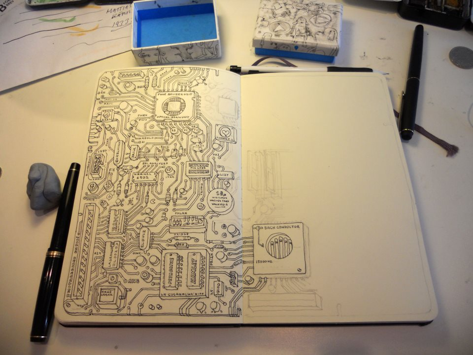 960x720 Check Out This Drawing Of A Motherboard Pics