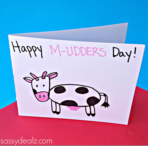 Mothers day cards drawing at getdrawings free for personal use 480x474 cow mother39s day card idea for kids to make m4hsunfo