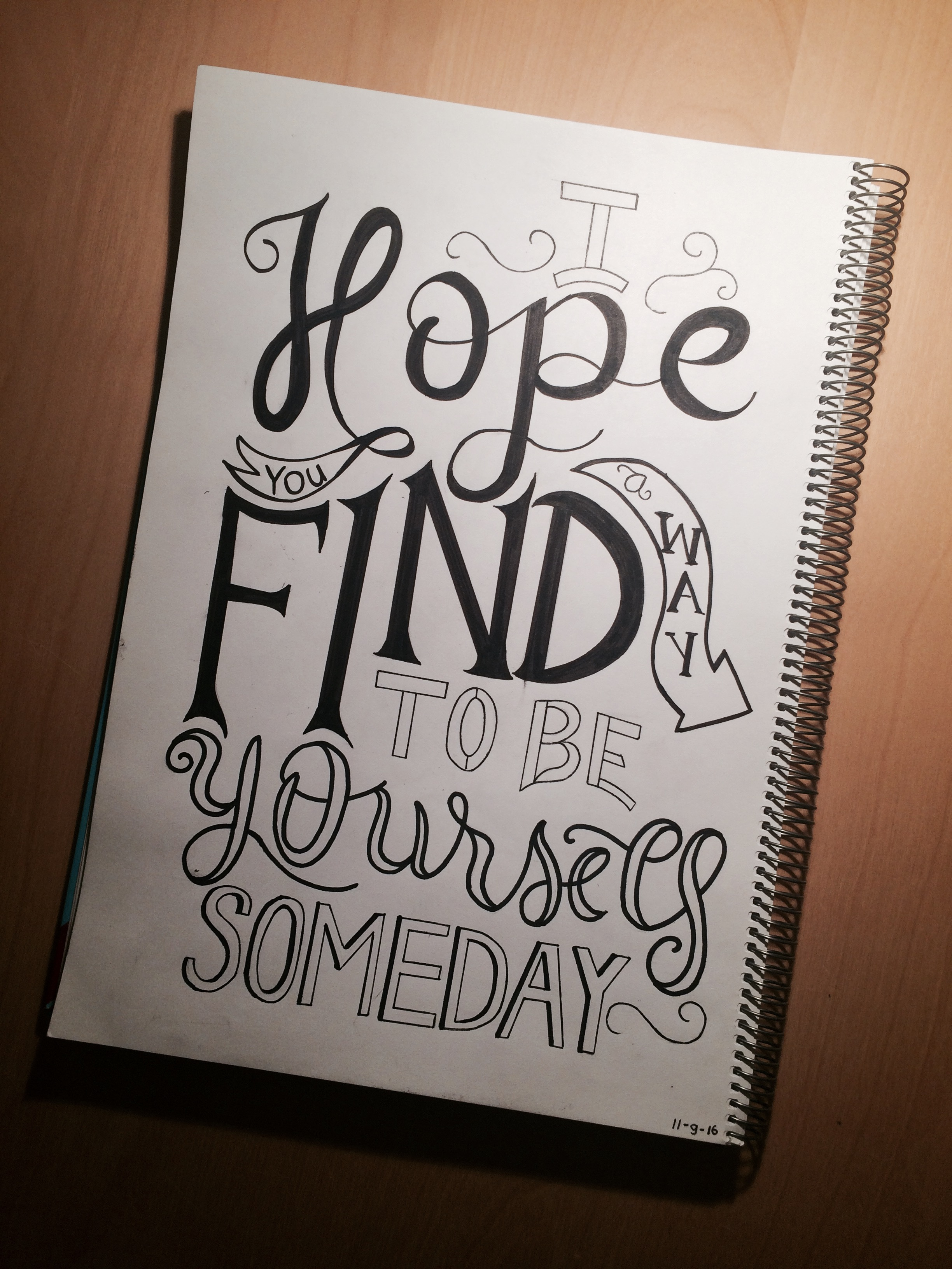 2448x3264 I Hope You Find A Way To Be Yourself Someday! @drawmotivation