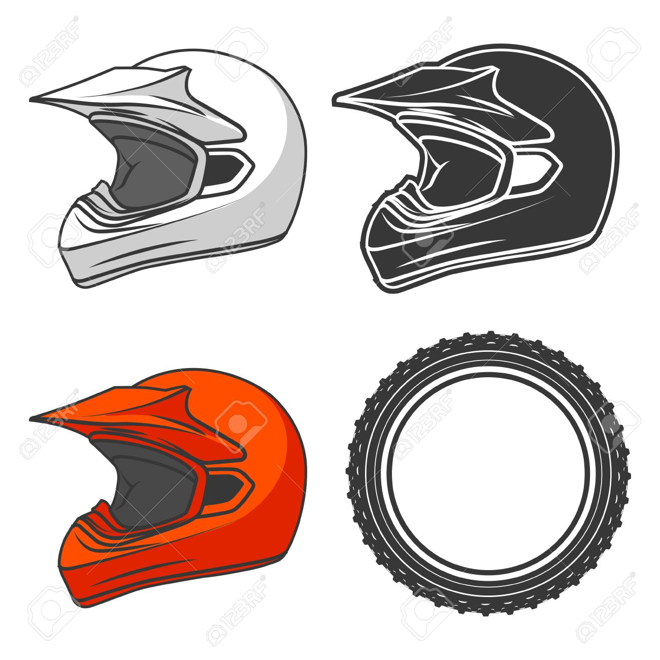1300x1300 2,284 Motocross Helmet Stock Illustrations, Cliparts And Royalty