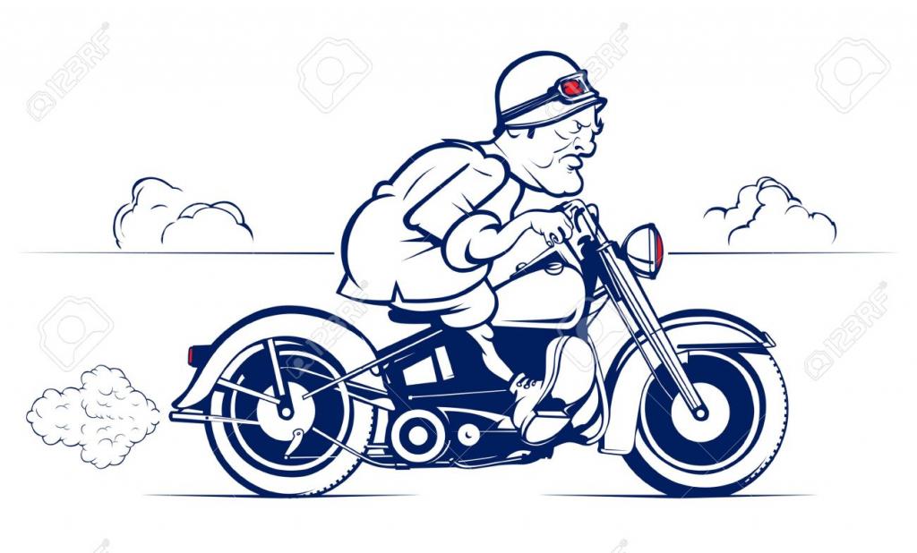 1024x618 Cartoon Motorcycle Drawings