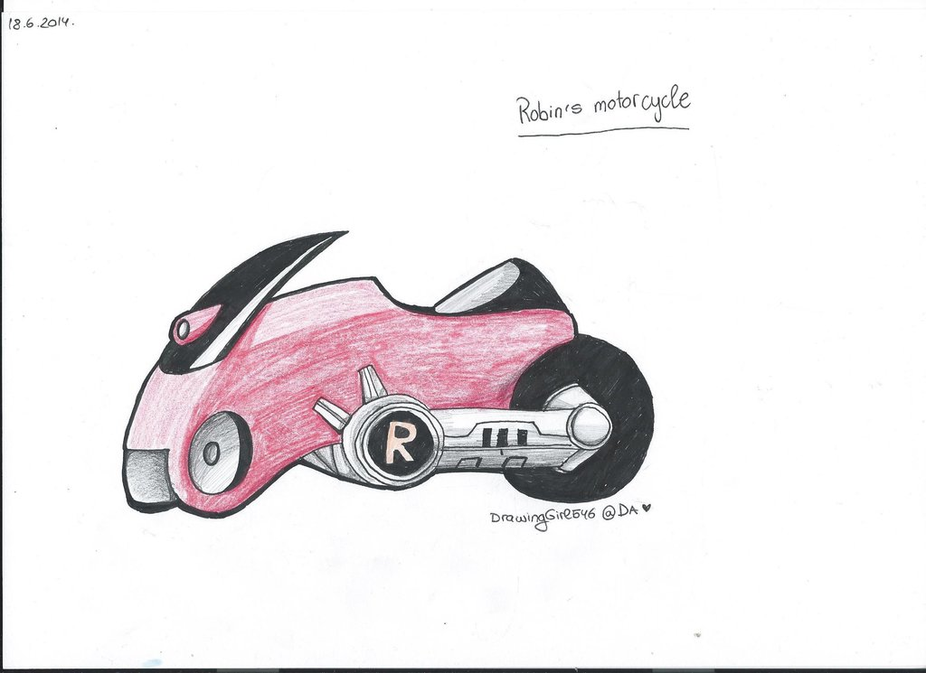 1024x745 Robin's Motorcycle By Drawing Heart