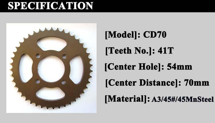 750x430 For Honda Cd70 Motorcycle Parts Honda Shine Sprocket Chain Kits