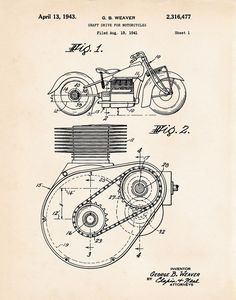 Motorcycle Engine Drawing at GetDrawings.com | Free for personal use