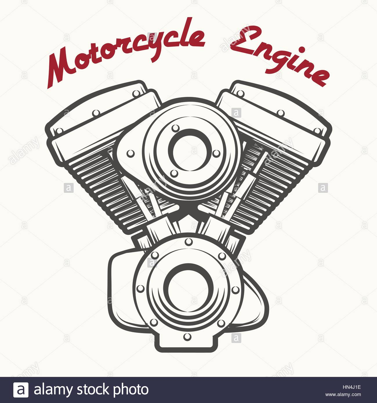 1300x1390 Motorcycle Engine Label Or Emblem Drawn In Retro Engraving Style