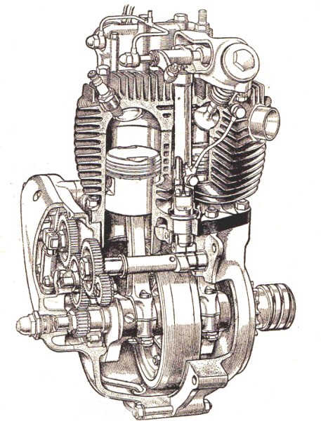 457x600 Pencil Drawings Of Motor Designs Motorcycle Engine