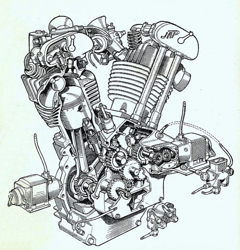 Motorcycle Engine Drawing At Getdrawings