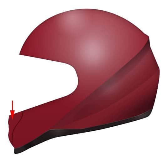 536x515 Draw Realistic Motorbike Helmet With Photoshop And Illustrator