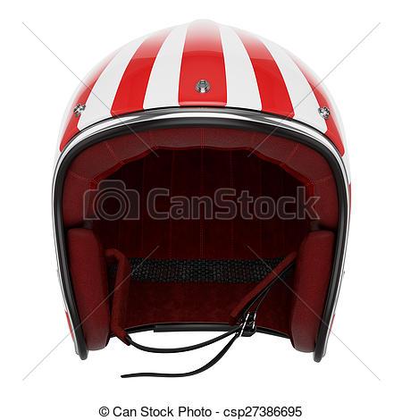 450x470 Motorcycle Helmet Red White Front View. Motorcycle Helmet Stock