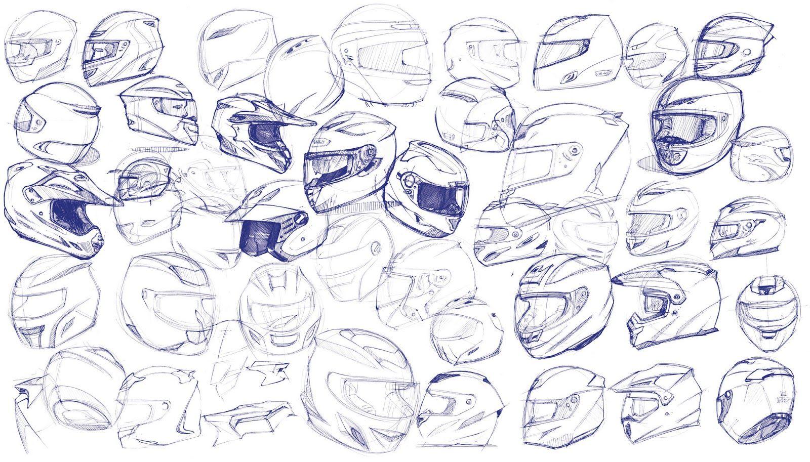 1600x913 Helmet Design Sketch
