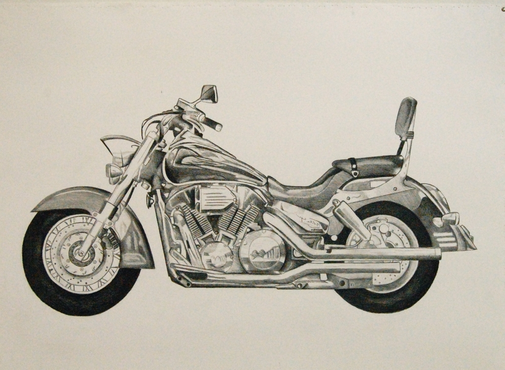 1024x750 Motorcycle Pencil Drawings Pencil Drawings Of Motorcycles Drawing